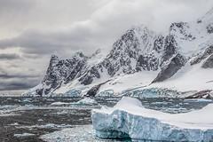 Iceberg with mountains