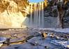 Skogafoss Iceland (Eric Zumstein) Tags: iceland waterfall skógafoss falls snow reflection