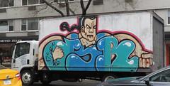 (TheMachineStops) Tags: 2018 outdoor nyc newyorkcity manhattan vehicle graffiti graffititrucks truck boxtruck sixthavenue 6thavenue streetart urbanart truckgraffiti