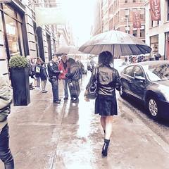 Urban Rain (Professor Bop) Tags: professorbop drjazz olympussh50 rain newyorkcity street streetphotography umbrellas woman legs nyc manhattan urban buildings structures