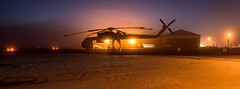 Sikorsky Twilight (WherezJeff) Tags: erickson n163ac villeneuve airport dawn fog morning sikorsky skycrane calahoo alberta canada czvl bubba d850 tiltshift s64f helicopter