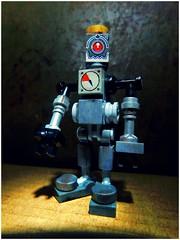 Copper Top (LegoKlyph) Tags: lego custom brick block mini figure robot build scrap rusted dirty bot machine droid old scifi future junk
