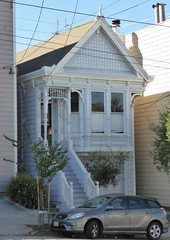 San Francisco, CA, Noe Valley, Victorian House (Mary Warren 13.5+ Million Views) Tags: sanfranciscoca noevalley architecture building house residence victorian stairs windows car