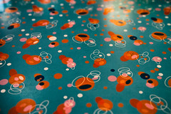 Tabletop (justingreen19) Tags: 2013 america american fastfood ny nydiner nyc newyork unitedstates abstract americandiner blue circles diner dining eatin justingreen19 orange pattern retro shapes surface table tabletop urban usa worktop
