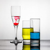 Three glasses (kyrsos.) Tags: glass transparent composition colorful white red blue yellow bar drink beverage thirsty booze three droping color reflection