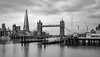 Contrasting Architecture (Aleem Yousaf) Tags: contrasting architecture cityscape historic reflections grey monochrome black white long exposure clouds sy d810 2470mm river thames waterfront shard royal navy tower bridge london happy nikkor nikon morning lee neutral density filter smooth monument sky water city boat building