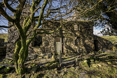 Rural idyll (ShrubMonkey (Julian Heritage)) Tags: hidden abandoned derelict decay forsaken dwelling house home farm farmhouse dilapidated ruin isolated silence remote structure stone northwales snowdonia caerfadoguchaf isolation tree cwmpennant ruins sky ruralidyll oncewashome