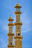 Minaret at Akbars Tomb (mraderstorf) Tags: akbarstomb blue delhi india marble tower sky watch stone minurette minaret monument architecture