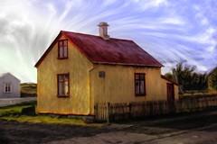From Iceland. (Tóta. 27.12.1964.) Tags: houses oldhouse clouds grass eyrabakki iceland ísland
