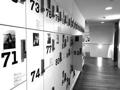 92 (=Mirjam=) Tags: lockers amsterdam bw iphone zwartwit indoors maart 2018