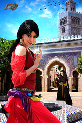 Jewel Thief (Davien Orion) Tags: deviantart photoshopelements photomanipulation conceptualphotography thief faestock persian jewel jewelthief persia aladdin jasmine woman girl red composite