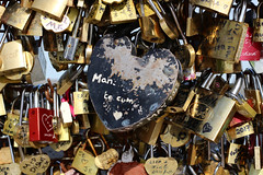 Paris Heart (Anna Sikorskiy) Tags: abstract concept stilllife locks love bridge urban art artistic metallic colors reflections naturallight outdoor city life mood paris france europe canon annasikorskiy modern