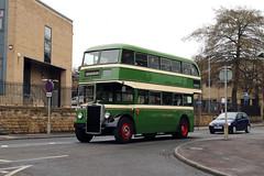 BHL 682 West Riding Leyland Titan PD2 with Roe body at Dewsbury by Russell Young (focus- transport) Tags: dewsbury bus museum spring transport fair open day 2018 west riding halifax corporation east yorkshire south leyland titan pd2 panther leopard national 2 albion valliant cx39n dennis mini pointer dart roe weymann