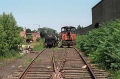 Milwaukee Road Lakewood Branch 7-29-86 1 (jsmatlak) Tags: chicago milwaukee road lakewood branch ce north line train freight industrial switcher