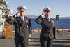 180304-N-ZS023-035 (U.S. Pacific Fleet) Tags: ussamerica lha6 amphibiousassaultship sailors people usnavy usmc marines cpr3 comphibron3 commanderamphibioussquadron 15thmeu marineexpeditionaryunit arg aarg amaarg ama americaarg amphibiousreadygroup deployment 7thfleet areaofoperations aoo cmc commandmasterchief co officer honors burialatsea ceremony commandingofficer pacificocean