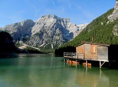 Lago di Braies - 4 (antonella galardi) Tags: altoadige sudtirol dolomiti dolomites pusteria dobbiaco toblach 2013 montagna lago braies croda becco pragserwildsee
