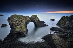 Gatklettur (FredConcha) Tags: alone rocks formation iceland clifs arch landscape nature fredconcha nikon d800 gatklettur volcanic sea sunrise