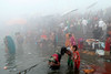 Makar Sankranti in Varanasi (pallab seth) Tags: makarsankranti varanasi people devotee tradition morning prayer ritual ganga river holydip banaras benaras india ganges religion religious belief traditional culture asia hindu hinduism bathing candid winter fog mist woman ghats