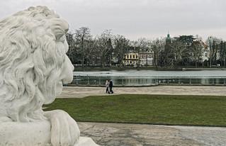 Schloss Benrath - Löwe wacht
