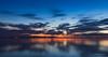 When the night falls! (karindebruin) Tags: haringvliet hellevoetsluis nederland orange oranje thenetherlands vesting voorneputten zonsondergang zuidholland clouds reflectie reflection sunset water wolken