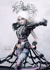 Bring me down (pure_embers) Tags: pure laura embers bjd doll dolls uk england girl pureembers drusilla embersdrusilla photography photo ball joint resin portrait dark grey skin mechanical souldoll soulkids lavi silver fullset msd
