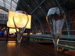 Glass of Fizz (failing_angel) Tags: 200917 london camdenborough stpancras searcys champagne food