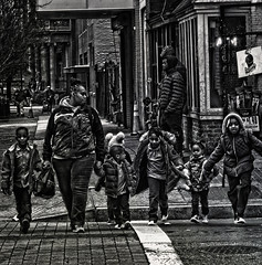 """The Soul Is Healed By Being With Children"", Martin Luther King Jr. Avenue, Historic Anacostia, Washington DC (Gerald L. Campbell) Tags: streetphotography street squareformat spirituality spiritualindifference socialdocumentary alienation aloneness bw blackwhite citylife community dc digital freedom historicanacostia indifference injustice inequality kids portrait martinlutherkingjravenue portraitphotography textures urbanphotography urban washingtondc woman yearning youth yeswecan youngboy younggirl canonsx60hs"
