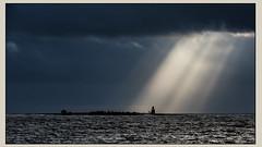 Eneskär i rampljuset (tonyguest) Tags: enskär ö island karlshamn blekinge sverige sweden tonyguest stockholm sea seascape clouds sun rays eneskär