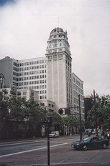 Humboldt Bank  San Francisco - California - Vintage Photo (Onasill ~ Bill Badzo) Tags: humboldt bank san francisco california ca nrhp terra cotta architecture second empire style victorian office 785 market street skyscraper tallbuilding landmark downtown cbd business commercial onasill building clock sky window tower beaux arts