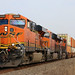 BNSF 5886 Leads WB Intermodal Wellsville, KS 3-9-18