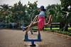 Hanoi Exercise (polybazze) Tags: hanoi gym execise woman asia soviet fujifilm fuji fujifilmx100t x100t park hat