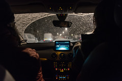 20180303 (Homemade) Tags: car driving snow mercedes night snowing winter nikon2470mmf28 nikkor2470mmf28 coventry midlands finham uk england
