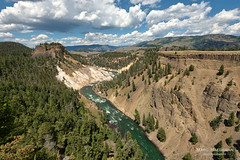 Calcite Springs (Marc Haegeman Photography) Tags: yellowstonenationalpark wyoming usa nationalparks landscape landscapephotography nikon nature river tree volcanic sky outdoor nikond750 thenarrows yellowstonecanyon sulphur geology