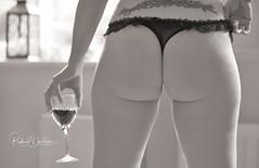 Model - Jackie (MonoFoto UK) Tags: model nsfw photoshoot 50s boudoir wine bw blackandwhite cheeky