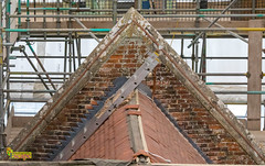 The Vyne - National Trust - Roof Replacement Project. (staneastwood - 1.7 million views - Thank you all.) Tags: sherbornesaintjohn england unitedkingdom gb staneastwood stanleyeastwood brick tile roof building architecture chimney strut baton wood
