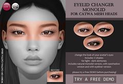 Catwa Eyelid Changer Monolid (Skin Fair) (Izzie Button (Izzie's)) Tags: skinfair izzies sl catwa makeup applier