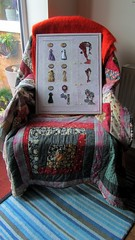 Considering........ (scrappy annie) Tags: embroidered handembroidery textileart textileartist fiberart fibreart fiberartist mixedmedia