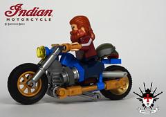 Indian Chopper By Barthezz Brick (Barthezz Brick) Tags: lego afol chopper indian motorcycle custom barthezz barthezzbrick brick motor city town