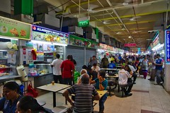 Food court at the Tekka Centre in Little India, Singapore (UweBKK (α 77 on )) Tags: food court meal eat tekka centre little india singapore southeast asia sony alpha 77 slt dslr social meeting diversity