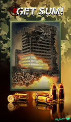 (GET-SUM!)-APOCALYPSE-CITY-409X700-300ppi-1-as-Smart-Object-1 (codyjacobson@zenmountainmedia.com) Tags: photohsop photomanipulation military war bullets helicopters chopper city apocalypse genocide death fire destruction text logo zombies people victims massacre buildings architecture graphicdesign video games camoflage composite movieposter