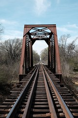 Straight Track (Gene Ellison) Tags: trestle steel railroad tracks