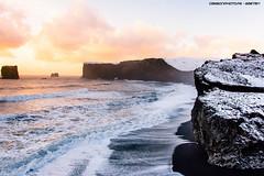 Dyrholaey (Gaetan | www.carbonphoto.fr) Tags: dyrholaey iceland island icelandtrip sunset ocean waterscape black sand beach waves tides vik reynisfjara