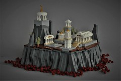 Temple in the sky (adde51) Tags: adde51 lego moc microscale temple ancient greece foitsop mountain