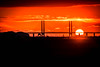 Sunset (Maria Eklind) Tags: sky malmö tree bro himmel bridge sweden outdoor öresundsbron solnedgång sunlight winter skånelän sverige se