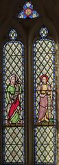 Clipsham, St Mary's church, window (Jules & Jenny) Tags: clipsham stmaryschurch stainedglasswindow