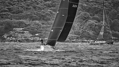 Sailing the chop (geemuses) Tags: sailing sails windy wind water ocean sea sailboat yacht blackandwhite black white bandw bw tacking racing sydney sydneyharbour newsouthwales boats boating sport action actionphotography