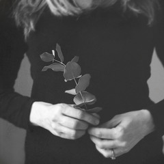 (Rebecca Skye Watson) Tags: selfportrait monochrome blackandwhite grainy fineartphotography simplicity eucalyptus
