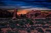 Arches Nationalpark - Utah / USA (Udo S) Tags: archesnationalpark usa amerika sonnenuntergang sunset urlaub vacation rocks colors farben sky utah nationalpark nacht night
