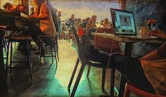 Lost but Found (clarkcg photography) Tags: chimera tulsa oklahoma mainstreet downtown brady coffee coffeeshop wifi mingle talk surf sip light morning eastwindow modification alter apps electrify energy buzz coffreetheme