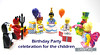 Birthday Party celebration for the children (WhiteFang (Eurobricks)) Tags: lego collectable minifigures series city town space castle medieval ancient god myth minifig distribution ninja history cmfs sports hobby medical animal pet occupation costume pirates maiden batman licensed dance disco service food hospital child children knights battle farm hero paris sparta historic brick kingdom party birthday fantasy dragon fabuland circus
